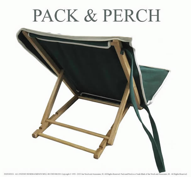 Folding Wood and Canvas Beach Backrests - with Three Position Backrest