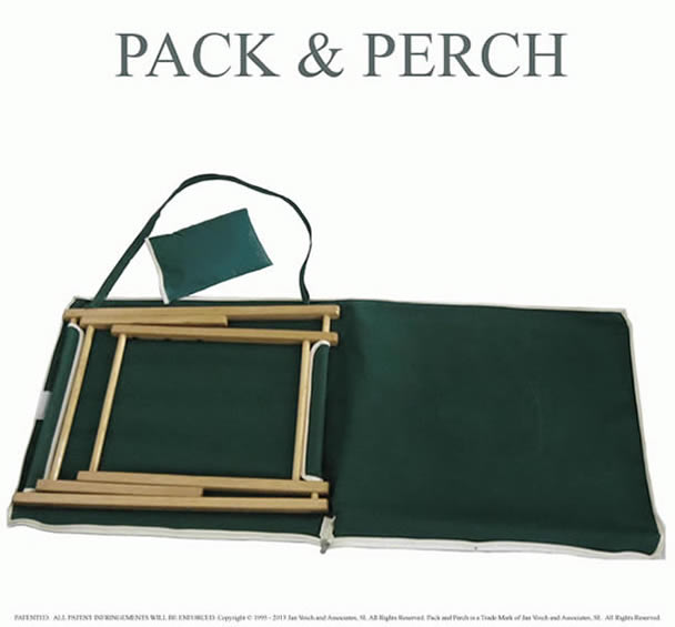 Canvas Picnic Chairs and Bag - open with Backrest Sewn Inside